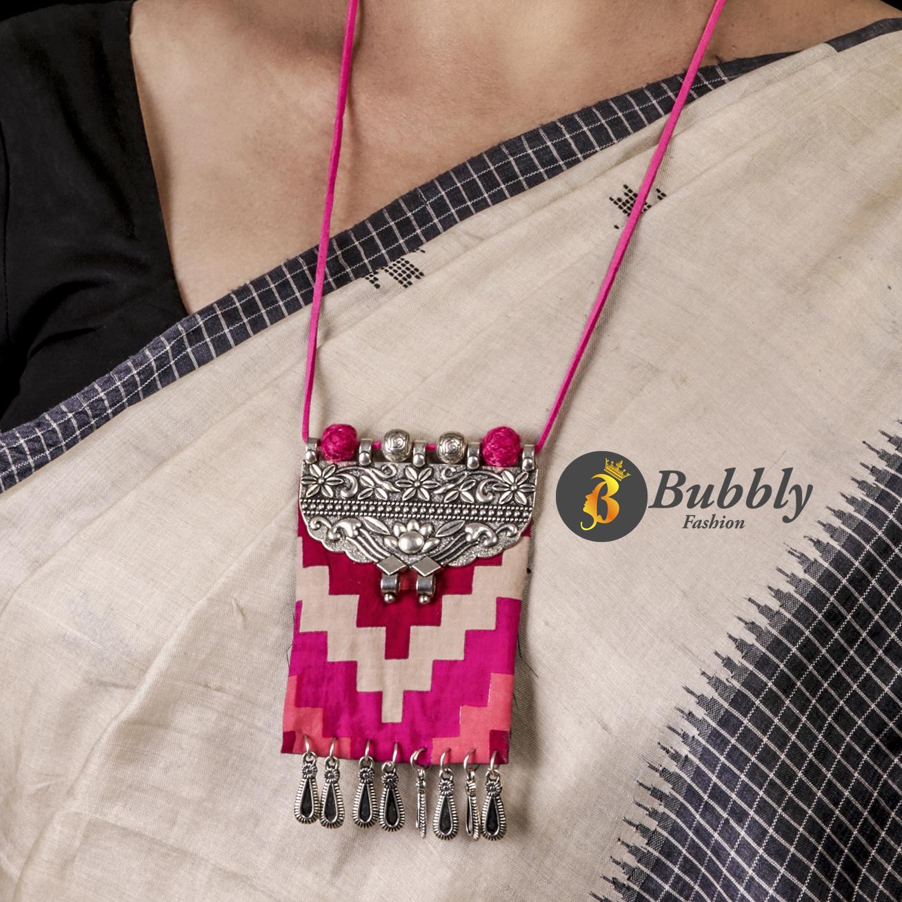 Fabric Necklace Set Bubblys Fashion
